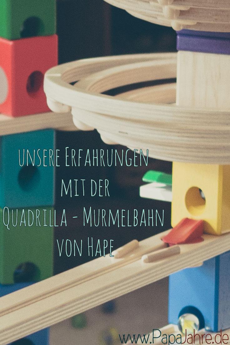 """Ein Erfahrungsbericht zur Holzmurmelbahn """"Quadrilla"""" von Hape"""