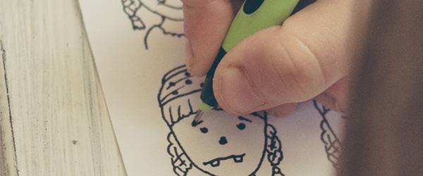 Malvorlage für das Zeichnen von Gesichtern für Kinder und Erwachsene