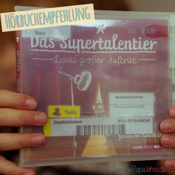 Titelbild Empfehlung Hörbuch Supertalentier
