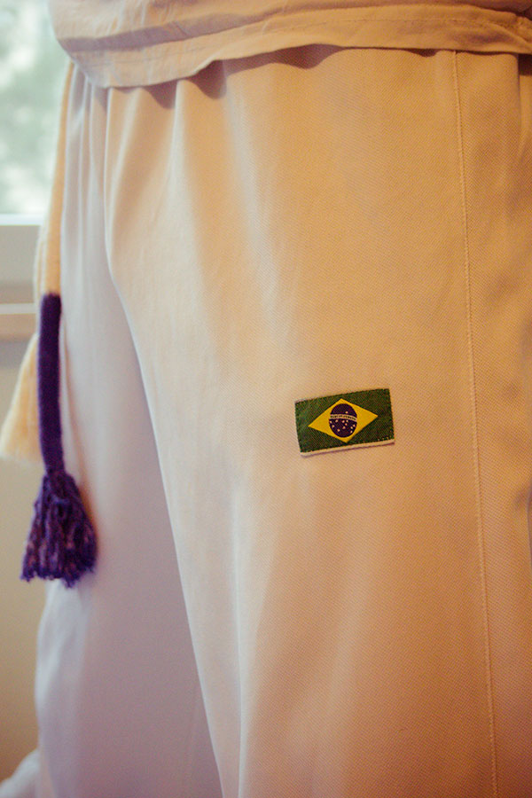 Gürtelprüfung Capoeira Papa Kind bestanden