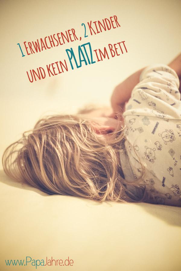 Titelbild Kein Platz beim Schlafen mit Kindern im Bett