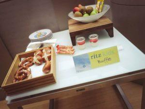 Ein Buffet für Kinder im Ritz Carlton in Wolfsburg
