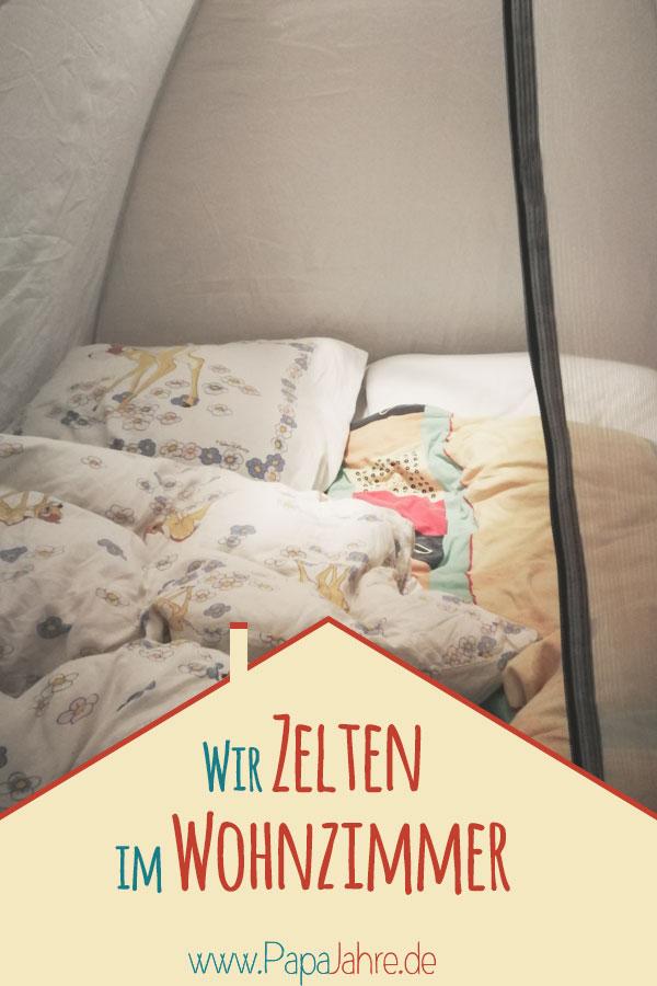 Titelbild im Wohnzimmer zelten